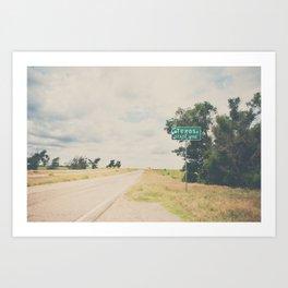 Texas state line ... Art Print