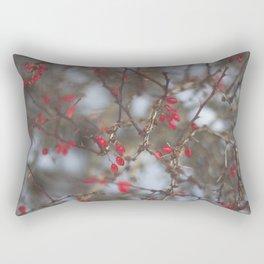 pop of red Rectangular Pillow