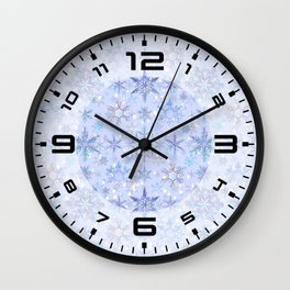 Snowflakes #2 Wall Clock