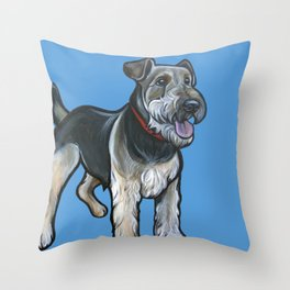 Airedale Throw Pillow