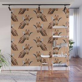 primitive African safari animal brown giraffe Wall Mural