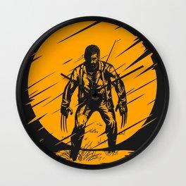 Logan Yellow Art Wall Clock