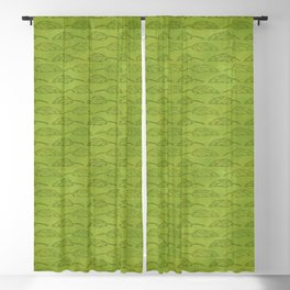 Palm Traffic! (Olive Green) Blackout Curtain