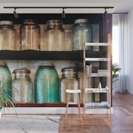 Canning jars in Spindletop-Gladys Wall Mural