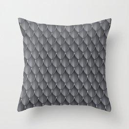 Medieval Fantasy   Metal scales  pattern Throw Pillow