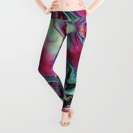 Colorful abstract marble Leggings