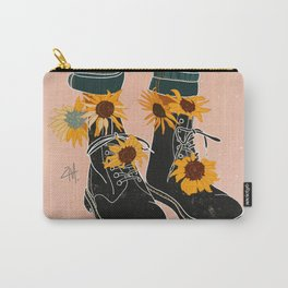 Sunflowers and Boots Carry-All Pouch