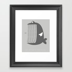 There are plenty of fish in the sea. Framed Art Print