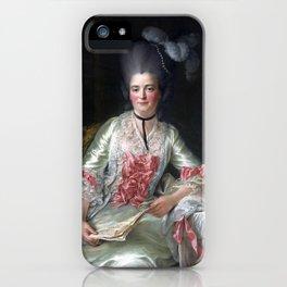François Hubert Drouais Marie Rinteau, called Mademoiselle de Verrières iPhone Case