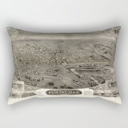 Bird's eye view of Plainville, Connecticut (1907) Rectangular Pillow