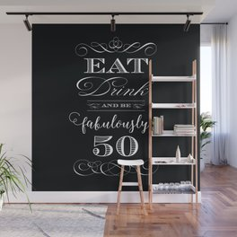 Fabulously Fifty Birthday Wall Mural