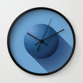 Flat Planet - #3 Neptune Wall Clock