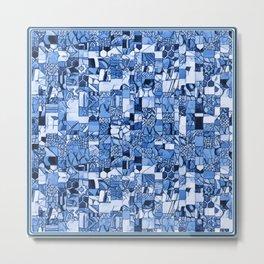 Tiles Delft Blue ~ 2 Metal Print