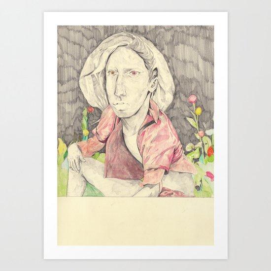 pink figure Art Print