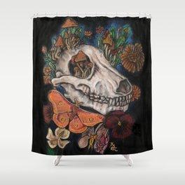 Mushroom Skull Shower Curtain