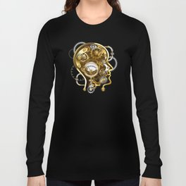 Steampunk Head with Manometer Long Sleeve T-shirt