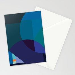 Coastal Nights - Blue Abstract byBrije Stationery Cards
