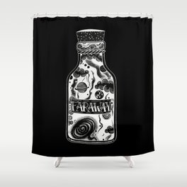 Inverted Distance Shower Curtain
