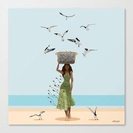 Fish Seler Canvas Print