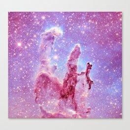 Galaxy nebula : Pillars of Creation lavender mauve periwinkle Canvas Print