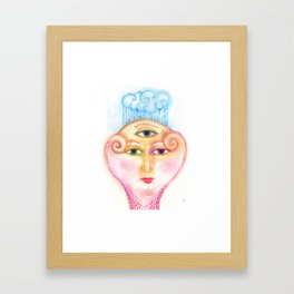 daemon of complicated times Framed Art Print