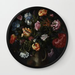 Jacob Vosmaer - A Vase with Flowers Wall Clock