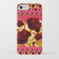 50s iPhone & iPod Cases featuring 50s Roses by Marmalademudpie and Me