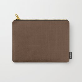 Bark Brown Solid Color Block Carry-All Pouch