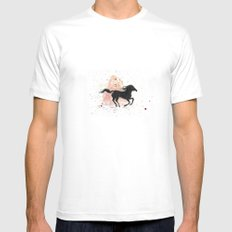 Spirit Stallion of the Cimarron Mens Fitted Tee White MEDIUM