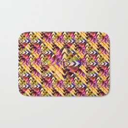 Number 1 Abstract by Mark Compton Bath Mat