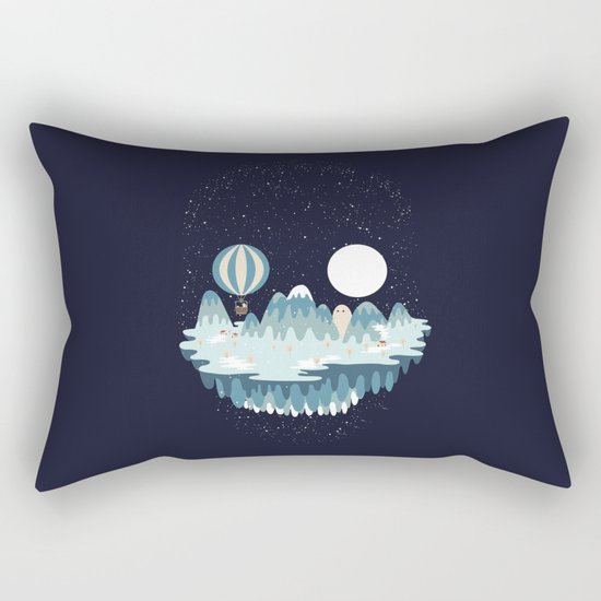 Winter skull Rectangular Pillow