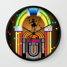Jukebox Jam (Hers) Wall Clock