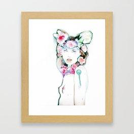 Blossoming whispers Framed Art Print