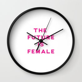 The Future Is Female Aesthetic Wall Clock