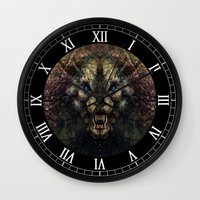 beast Wall Clocks featuring Beast by Zandonai