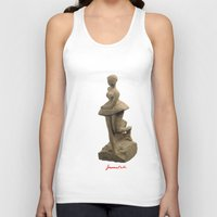ballerina Tank Tops featuring ballerina by Francesco Mestria