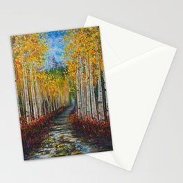 Nelly Creek painting of Uncompahgre National Forest Stationery Cards