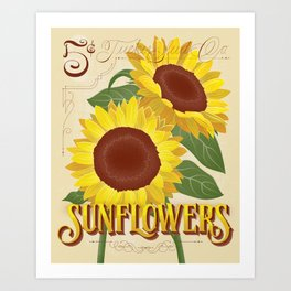 Sunflowers Seed Packet Art Print
