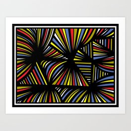 Traffanstedt Abstract Expression Yellow Red Blue Art Print