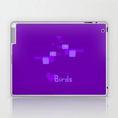 Love Birds-Purple Laptop & iPad Skin
