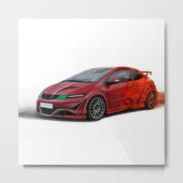 Honda Civic TypeR Metal Print