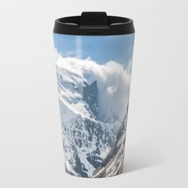 Clouds at the Norwegian mountain Travel Mug