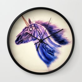 Zombie Unicorn Wall Clock