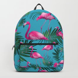 Summer Flamingo Palm Vibes #2 #tropical #decor #art #society6 Backpack