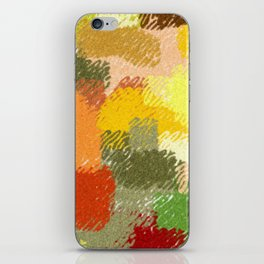 Abstract art watercolor art minimalist orange brown iPhone Skin