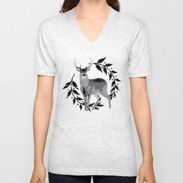 Laurel Deer Unisex V-Neck