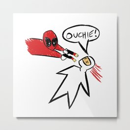 Dead pool Ouchie Drawing Metal Print