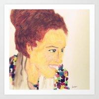 melissa smith Art Prints featuring Melissa #facesilove by LAURENBROOKESANCHEZ Art & Photography