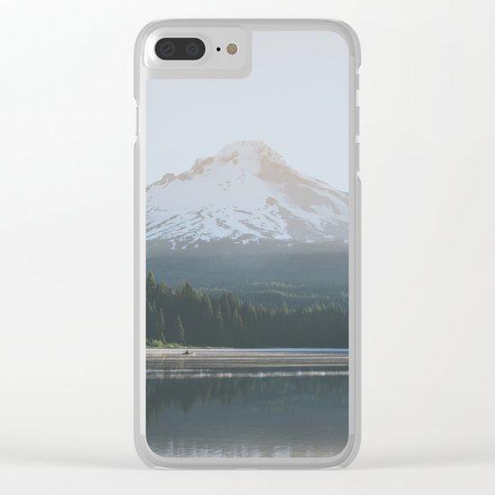 Trillium Lake Sunrise Clear iPhone Case