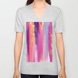 Watercolor strokes glitter Aquarelle coups de paillettes Aquarellstriche glitzern Brillo de trazos Unisex V-Neck